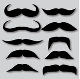 Different types of mustaches. Retro style. Royalty Free Stock Photo
