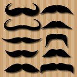 Different types of mustaches. Retro style. Stock Photos