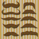 Different types of mustaches. Retro style. Royalty Free Stock Photos