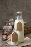 Different types of nut milk Stock Images