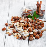 Different types of nuts Royalty Free Stock Images