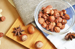 Different types of nuts Royalty Free Stock Photo