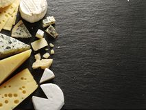 Different Types Of Cheeses. Royalty Free Stock Photo