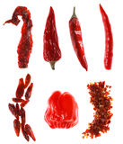 Different Types Of Red Chillies Stock Images