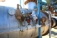 Different Types of Oil Fields in the Pressure Gauge and Valve. Active and Running the Different Types of Oil Fields in the Pressure Gauge and Valve stock photos