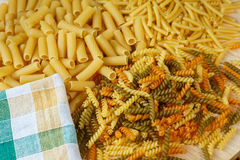 Different types of pasta Royalty Free Stock Images