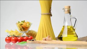 Different types of pasta. Different kinds of pasta from durum wheat stock video footage