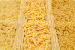 Different types of pasta Royalty Free Stock Photos