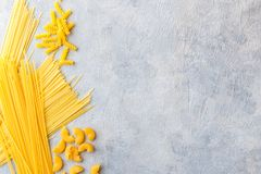 Different types of pasta stock image