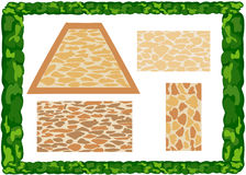 Different types of paving slabs Stock Photo
