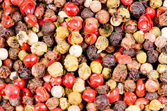 Different types of pepper. As a background Stock Photography