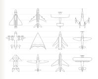 Different types of plane icons Stock Photo