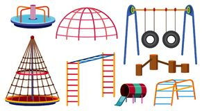 Different types of play stations for playground. Illustration Royalty Free Stock Photography