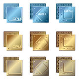Different types of processors Stock Photography