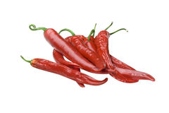 Different types of red hot chili pepper royalty free stock photo