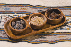 Different types of resins and incense Royalty Free Stock Photos
