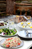 Different types of salads for summer entertaining Royalty Free Stock Images