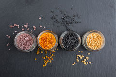 Different types of salt royalty free stock photos