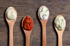 Different types of sauces Stock Photography