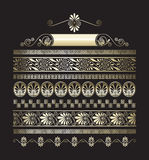 Different types of seamless gold Greek patterns Royalty Free Stock Image