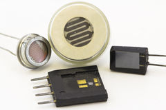 Different types of sensors Stock Photo
