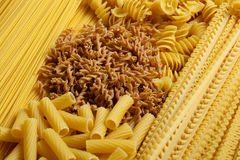 Different types and shapes of Italian pasta Stock Photo