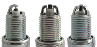 Different types of spark plugs in profile Stock Image
