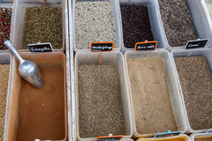 Different types of spices from a market Royalty Free Stock Images