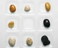 Different types of stones for decoration royalty free stock photo