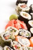 Different types of sushi Royalty Free Stock Photography