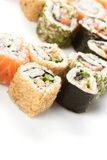 Different types of sushi Stock Image
