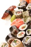 Different types of sushi Stock Photography