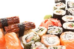 Different types of sushi Royalty Free Stock Photos