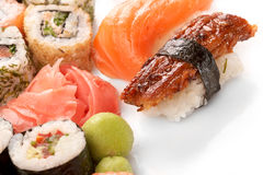 Different types of sushi Royalty Free Stock Images
