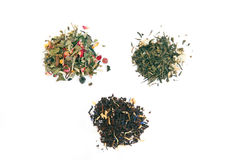 Different types of tea over white Stock Photo