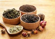 Different types of tea stock photo