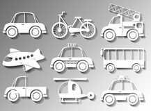 Different types of transportation Royalty Free Stock Images