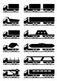 Different types of trucks Stock Photography
