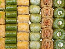 Different types of turkish cakes Stock Photo