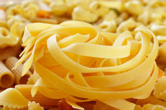 Different types of uncooked pasta Royalty Free Stock Image