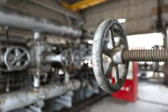 Diffrent Types of Valves and Indicators in the Oil Industry royalty free stock images