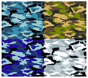 Different Types Vector Camouflage. Vector textures, camouflage pattern series. Military textures Royalty Free Stock Images