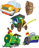 Different types of vehicles. Using the wheel Royalty Free Stock Images
