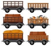 Different types of wagons. Illustration vector illustration