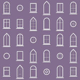 Different types of windows. Eps10 Royalty Free Stock Photo