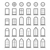 Different types of windows. Eps10 Royalty Free Stock Images