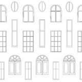 Different types of windows Royalty Free Stock Photos