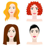Different types of woman and girl appearance Royalty Free Stock Images