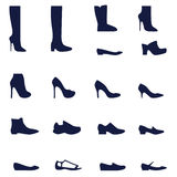 Different types of women's shoes Stock Photo