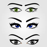 Different types of womens eyes Stock Photo